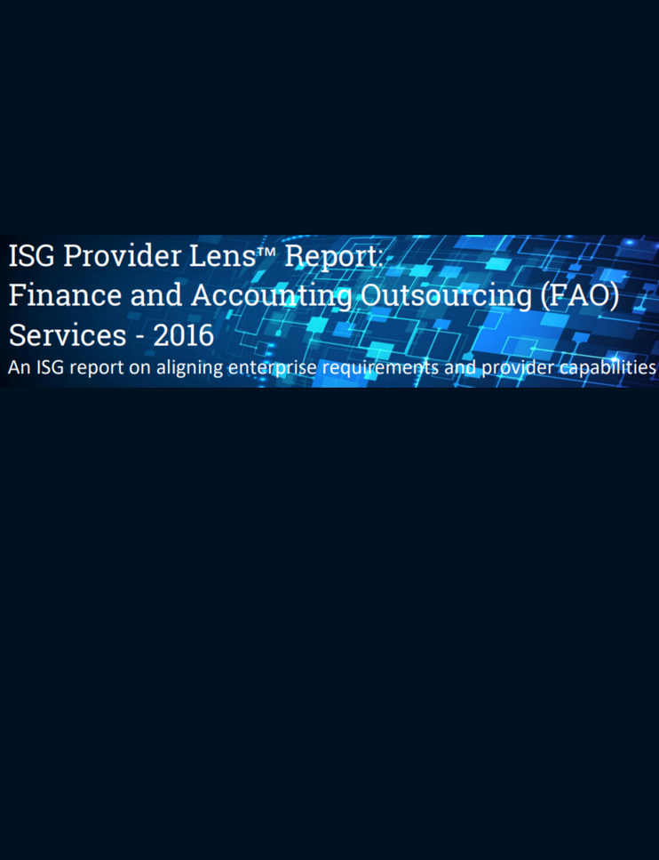 Sutherland Named Leader in Automation and Transformation in ISG Provider Lens™ Report: Finance and Accounting Outsourcing (FAO) Services
