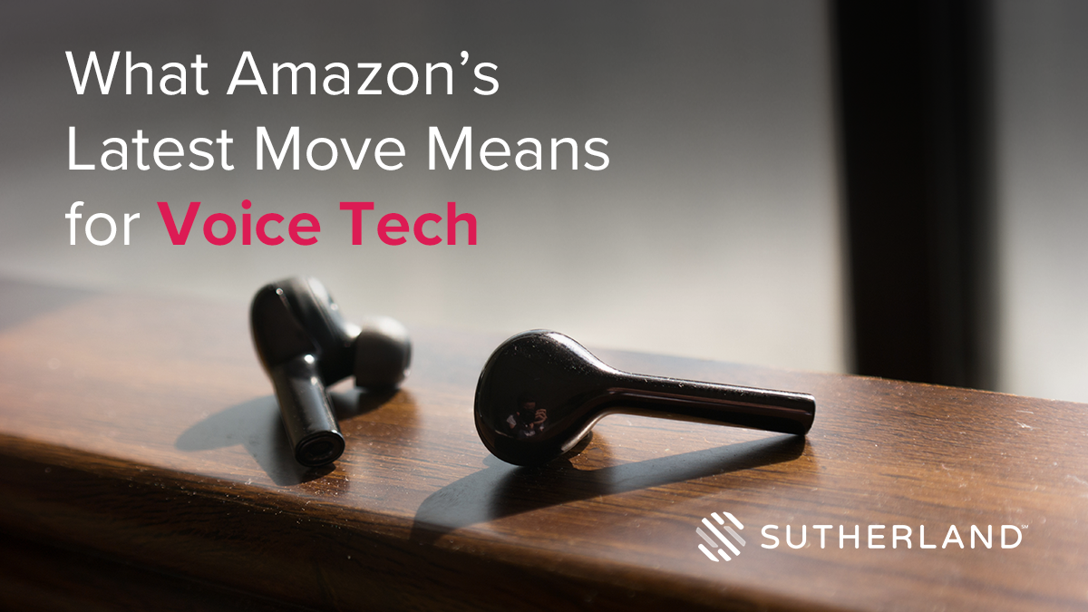 What Amazon's Latest Move Means for Voice Tech
